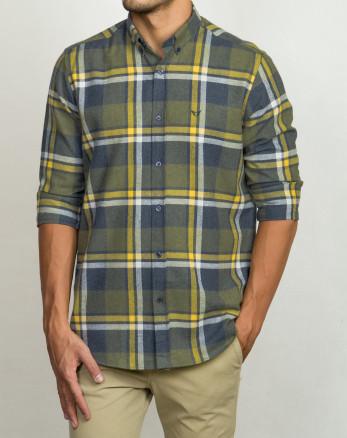 خرید اینترنتی پیراهن آستین بلند مردانه سبز 20252142