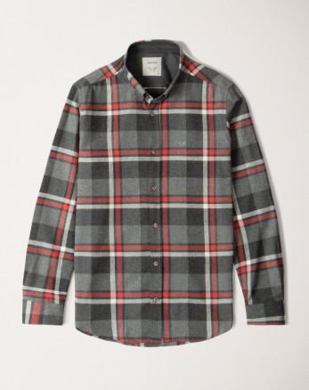 پیراهن آستین بلند مردانه خاکستری  20252142