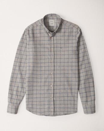 پیراهن چهارخانه خاکستری 20252140