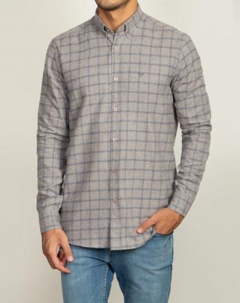 پیراهن جذاب چهارخانه خاکستری 20252140