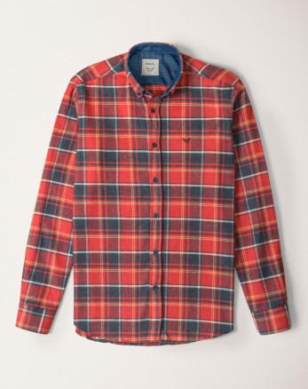 پیراهن آستین بلند مردانه قرمز 20252141