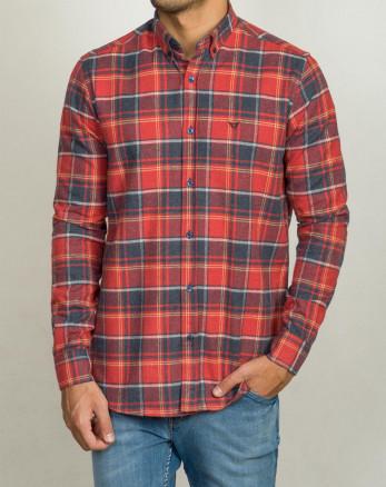 خرید اینترنتی پیراهن آستین بلند مردانه قرمز 20252141پیراهن آستین بلند مردانه قرمز 20252141