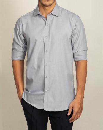 خرید پیراهن مردانه آستین خاکستری   20221212