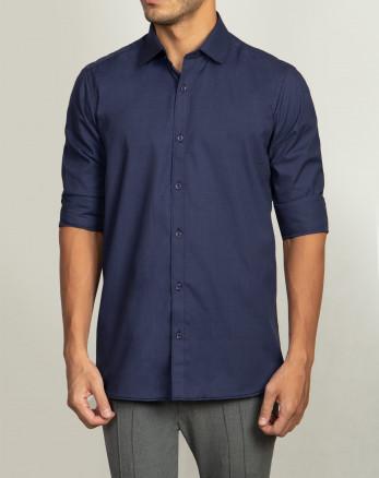 خرید پیراهن مردانه آستین سرمه ای روشن   20221212