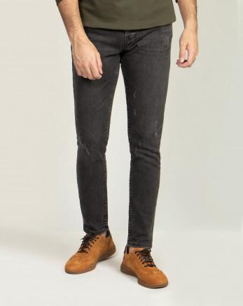 خرید اینترنتی شلوار جین مردانه ذغالی 20210112