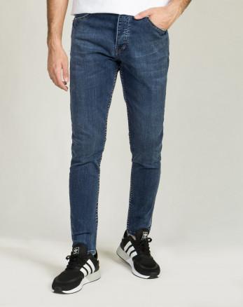 خرید اینترنتی شلوار جین مردانه اسکینی آبی تیره 20210114