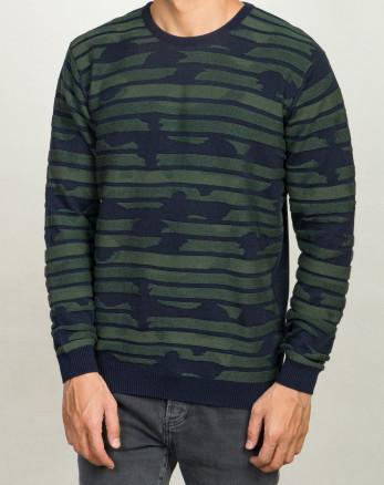خرید اینترنتی پلیور آستین بلند مردانه بافت سبز 20242164