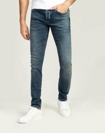 شلوار جین ساده مردانه جذب  زیبا ابی 20311130
